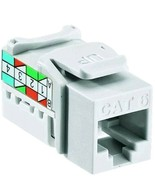 Cat-6 Connector Jack,No R00-6G108-01W,  Leviton Mfg Co Doubles Bandwith ... - £8.46 GBP