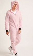 Homme Peluche Cochon Rose Fausse Fourrure Costume Mascotte One Piece Body - $19.54