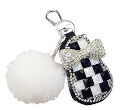 PANDA SUPERSTORE Lovely Fur Ball Car Key Case Auto Parts Car Accessories Keychai