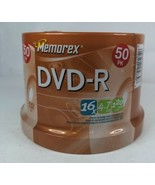 Memorex DVD-R 50 Pack 16X 4.7GB 120 Min Brand New Factory Sealed See Pics  - $19.99