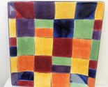 Tabletops Gallery Caracas Patchwork Plate 8 3/8 Inch Square