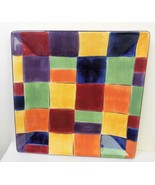 Tabletops Gallery Caracas Patchwork Plate 8 3/8 Inch Square - $14.85