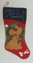 "Dog Lover Jingle Bells Christmas Stocking (Size:19.5"" L,holiday,felt,gre... - $19.99"