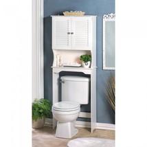 Bathroom Storage Over The Toilet  White Cabinet Organizer Shelf - New - $75.24