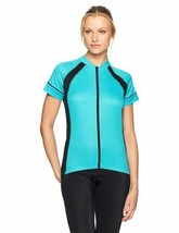 Large CANARI Women's Dream Cycling Jersey Short Sleeve Full Zip Front Ventilated