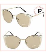 PRADA Absolute Ornate Pale Gold Ivory Metal Oversized Sunglasses 59V PR59VS - $272.25