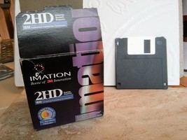 "IMATION 2HD Diskettes/Floppy 3.5"" Discs  1.44MB Formatted  23 Discs Open... - $25.22"