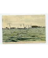 Sailing the Sewell Cup Race Postcard Seaside Park New Jersey 1907 - $31.64