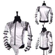 Michael Jackson Sliver Costume Jacket Coat Halloween Carnival Uniform Suit - $56.00