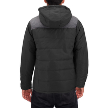 Men's Heavyweight Water And Wind Resistant Removable Hood Insulated Jacket image 8