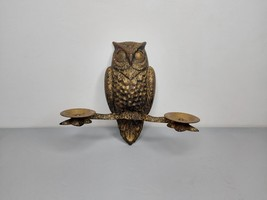 Vintage Candlestick Owl Soviet Candle Holder Wall Candlestick Gothic Sty... - $53.00