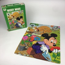 Walt Disney Mickey Mouse Pluto Gardening 100 Piece Vintage Jigsaw Puzzle 14x18 - $14.95