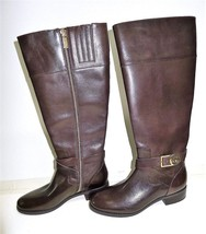 NWOB Michael by Michael Kors Women's Bryce Tall Boots Mocha Brown Leather - $49.95