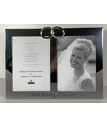 With This Ring, I Thee Wed 5x7 2 Picture Photo Frame Wedding Silver Rings Malden - $8.90