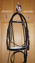 Bobby's BLACK/WHITE Padded NON Flash Snaffle Bridle w/Reins Choice - FUL... - $149.95