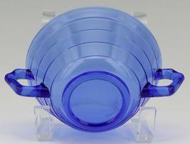 Hazel Atlas Cobalt Blue Moderntone Depression Glass Cream Soup image 4