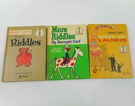 Vintage Bennett Cerf Book Of Laughs 1959, Book Of Riddles 1960, More Rid... - $28.95