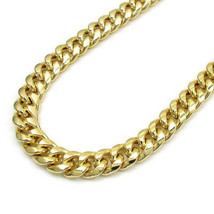 "6MM 10K YELLOW GOLD HOLLOW CUBAN LINK WOMEN MEN'S  CHAIN 20""-28"" - $826.07+"