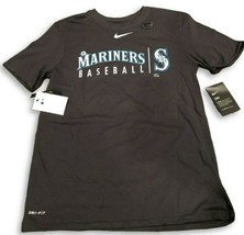 New NWT Seattle Mariners Nike Dri-Fit Cotton Practice Anthracite Large T... - $26.68