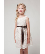 Knee Length Lace Flower Girls Dresses O-Neck Kids Party Gowns A Line For... - $17.33