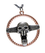 Mad Max Fury Road Steering Wheel Necklace Pendant Zinc Skull Necklace Fo... - $25.00