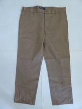 IZOD American Chinos 34 W x 30 L Slim Fit Flat Front Beige Khaki Dress Pants - $19.80