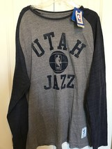 5afa3a82d Team Utah Jazz NBA Adidas long sleeve tee Grey and Blue Size 2XL New wit.  Add to cart · View similar items