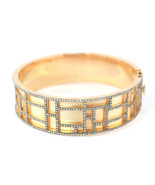4.45 TCW Natural Diamond Matte Finish Round Bangle in 925 Sterling Silver - $1,643.39