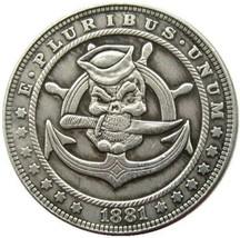 Hobo Nickel Skull Skeleton Pirate Ocean Sea Morgan Dollar American Nickl... - $9.49