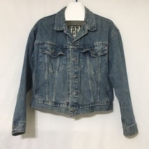 Vintage 90s Levis Silvertab Denim Jean Jacket Faded Button Trucker Size ... - $38.69