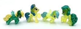 (4) My Little Pony Blind Bag Wave 10 Glitter Mlp Jewel Raindrop Sassaflash Lemon - $6.44