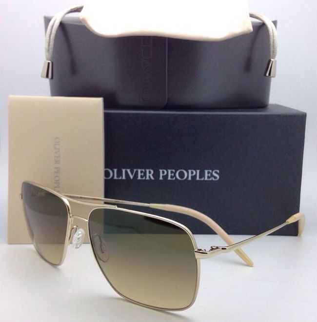 OLIVER PEOPLES PHOTOCHROMIC Sunglasses CLIFTON OV 1150-S 5035/85 Gold with Olive