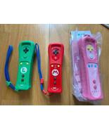 Nintendo Wii remote control plus limited color Luigi Mario peach color - $148.49