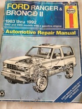 1983 thru 1992 Ford Ranger Truck & Bronco II 2wd 4wd Gas Repair Manual H... - $17.63