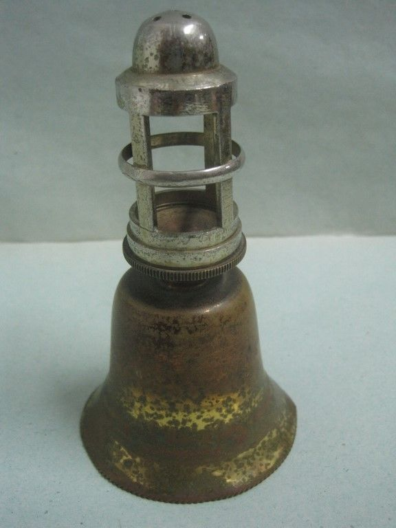 Primary image for Antique Bell in brass shaped like mile lighthouse