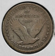 1917D Standing Liberty Silver Quarter Coin Lot 818-10 image 2