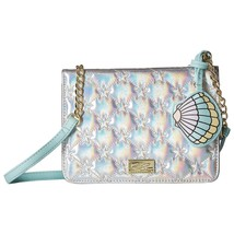 Betsey Johnson Carly Star Quilted Iridescent Silver Crossbody Clutch NWT - £44.84 GBP