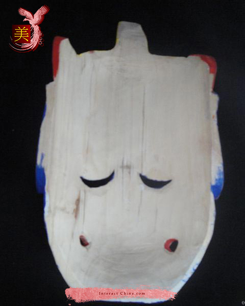 Chinese Home Wall Décor Ritual Dance Mask 100% Wood Craft Folk Art #105 Pro