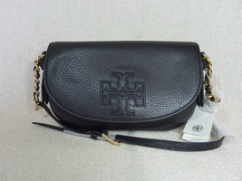 NWT Tory Burch Black Leather Harper Cross Body Bag $328 - $304.92