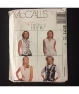 McCall's 8171 Women's Vest Pattern Size 12 V-Neck Princess Seams Trim Op... - $8.00