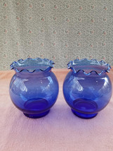 """Lot Of 2 Anchor Hocking Cobalt Blue Vases - 5.25"""" Tall - Very Good Condi... - $20.91"""