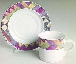 Studio Nova Palm Desert Coffee Cup Saucer S 4 Y2216 Geometric - $15.98