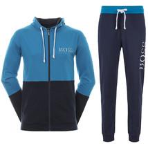 Hugo Boss Men's Athletic Sport TrackSuit Hooded Sweatshirt Jacket & Pants Set