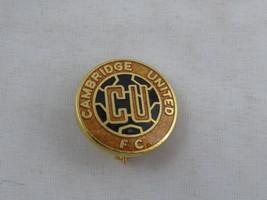 Vintage Cambrige United FC Pin - Team Logo - Inlaid Pin - $15.00