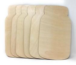 """12"""" Wooden Mason Jar Cutout Shapes Package of 6 Wooden Mason Jar Cutouts... - $20.05"""
