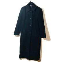 Larry Levine Classics Womens Size 6 Dark Gray 100% Wool Long Winter Coat  - $51.38