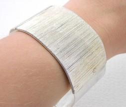 VTG .925 Sterling Silver 50g Metal Coil Cuff Bracelet - $297.00