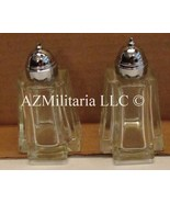 Princess House Lead Crystal Salt & Pepper Shakers Aztec Pyramid Design - $17.75