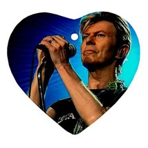 Memorabilia Heart Ornament - David Bowie Procelain Ornaments Christmas  - $4.49