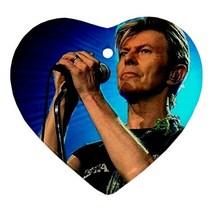 Memorabilia Heart Ornament - David Bowie Procelain Ornaments Christmas  - $4.49